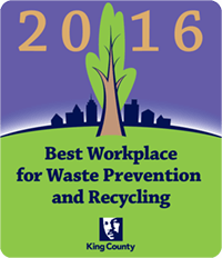 Best Workplace for Waste Prevention and Recycling - 2016